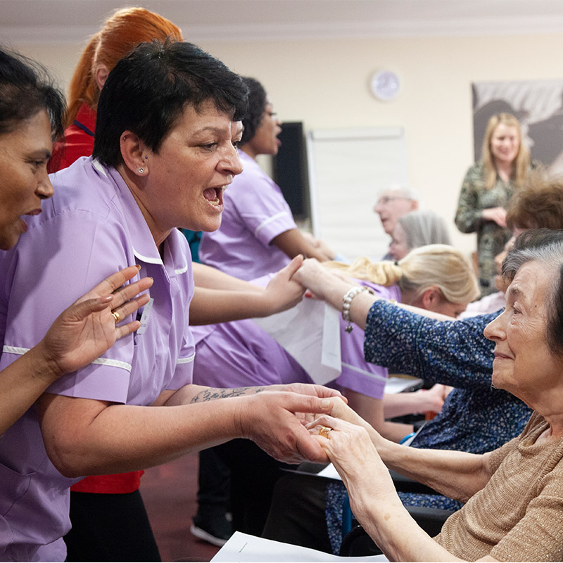 Leisure time at chestnut view care home haselmere